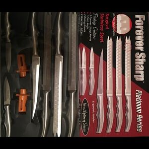 Forever Sharp knives set stainless. New , no tags.